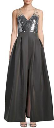 Sachin + Babi Sequin Sleeveless Gown