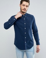 Abercrombie & Fitch Classic Regular Fit Oxford Shirt In Navy