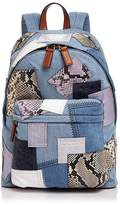 Marc Jacobs Biker Patchwork Denim Backpack