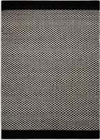 House of Fraser Plantation Rug Co. Belle 100 Wool Flatweave Rug 150X230 Monochrome