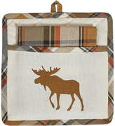 Roaring Thunder Moose Pot Holder & Dish Towel