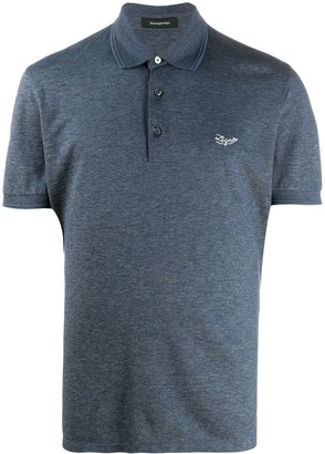 Ermenegildo Zegna Embroidered Logo Cotton Polo Shirt