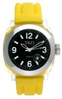 TKO ORLOGI Unisex TK508-BY Milano Plastic Case and Yellow Rubber Strap Watch