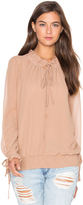 Lucy Paris Tie Up Blouson Top
