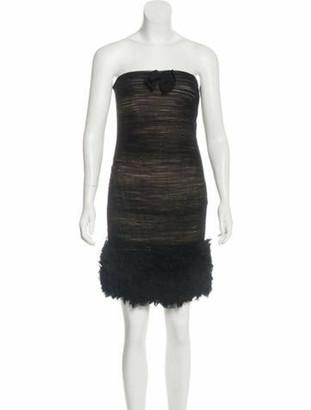 Giambattista Valli Silk Mini Dress w/ Tags Black