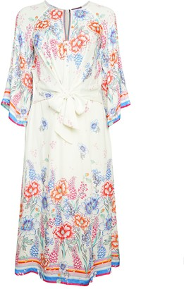 Hale Bob Tie-Front Floral Dress