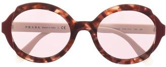 Prada Tortoiseshell Effect Sunglasses