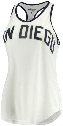G Iii Women's G-III 4Her by Carl Banks White San Diego Padres Break the Game Tank Top