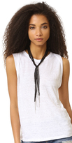 Chan Luu Black Fringe Scarf Necklace