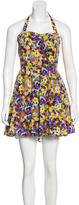 Alice + Olivia Floral Print Silk Dress