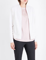 Brunello Cucinelli Diamanté cashmere-cotton blend bomber jacket