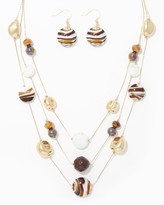 Charming charlie Striped Bead Necklace Set