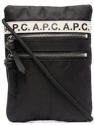 A.P.C. Logo Tape-Detail Messenger Bag