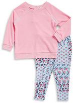 Splendid Baby's Stitched Sweatshirt and Floral Leggings Set
