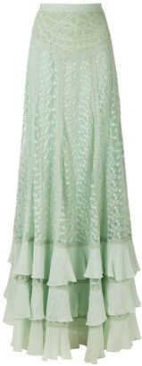 Martha Medeiros Edith Full-Length Skirt With Lace Detail