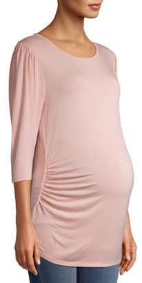 Time and Tru Maternity 3/4 Puff Sleeve Top