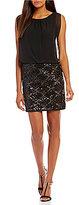 Calvin Klein Sequined Blouson Dress