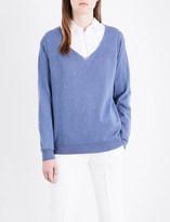 Brunello Cucinelli Chain-embellished V-neck cashmere jumper