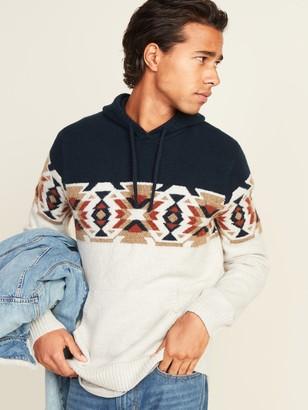 Old Navy Cozy Print-Block Pullover Sweater Hoodie for Men