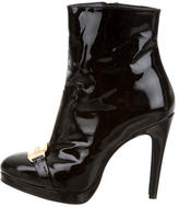 John Galliano Patent Leather Ankle Boots