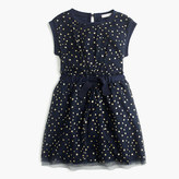 J.Crew Girls' tulle-overlay dress in celestial print
