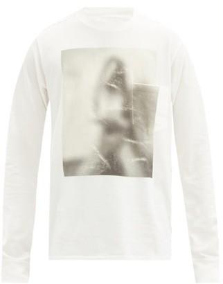 TAKAHIROMIYASHITA TheSoloist. Untitled Woman Cotton-jersey Long-sleeved T-shirt - White