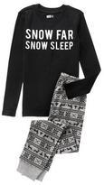 Crazy 8 Snow Sleep 2-Piece Pajama Set
