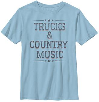 Fifth Sun Boys' Tee Shirts LT - Light Blue 'Trucks 'n' Country Music' Tee - Boys