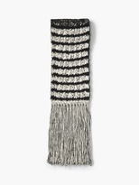 John Varvatos Alpaca and Pima Cotton Knit Scarf