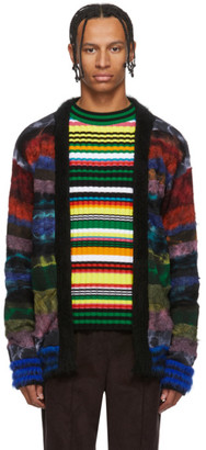 AGR SSENSE Exclusive Multicolor Brushed Mohair Cardigan