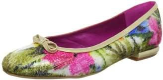 Beverly Feldman Sally Ballet Flats Womens Beige Beige (Floral Sequins) Size: 6.5 (40 EU)