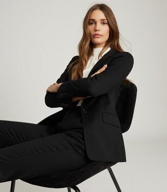 Reiss Hayes - Wool Blend Slim Fit Blazer in Black
