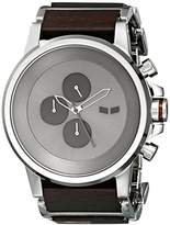 Vestal Men's PLWCM001 Plexi Wood Analog Display Japanese Quartz Silver Watch
