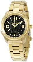 Wenger Women's Gold-Tone Steel Bracelet & Case Swiss Quartz Dial Analog Watch 01.1121.114