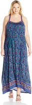 Lucky Brand Women's Plus Size Circle Embroidered Dress