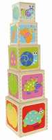 Boikido Five-Cube Stackable Nesting Pyramid