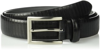 Stacy Adams Men's 32mm Leather Lizard Embossed Belt