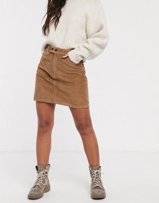 Hollister cord mini skirt