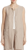 Eileen Fisher Long Snap Front Vest