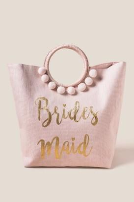 francesca's Bridesmaid Circle Handle Tote - Blush