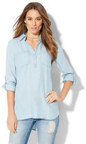 New York & Co. Soho Soft Shirt - Ultra-Soft Chambray Tunic