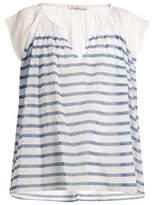 Mes Demoiselles Mathilde striped cotton-gauze blouse