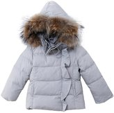 Oceankids Little Girl's Short Detachable Hood Zip Closure Down Parka 2 Years