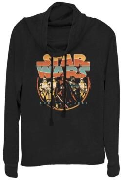 Fifth Sun Star Wars Last Jedi Retro Kylo Ren Cowl Neck Sweater