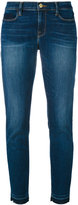 Frame distressed cropped jeans - women - Cotton/Polyester/Spandex/Elastane - 25