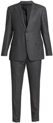 Giorgio Armani Melange Virgin Wool Suit
