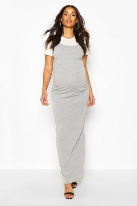 boohoo Maternity 2 in 1 T-Shirt Maxi Dress