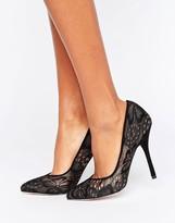 Paper Dolls Black Lace Court Shoe