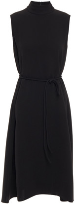 Theory Belted Stretch-crepe Dress