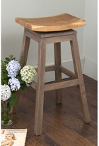 """Probst Swivel Solid Wood 29"""" Bar Stool August Grove Color: Costello"""